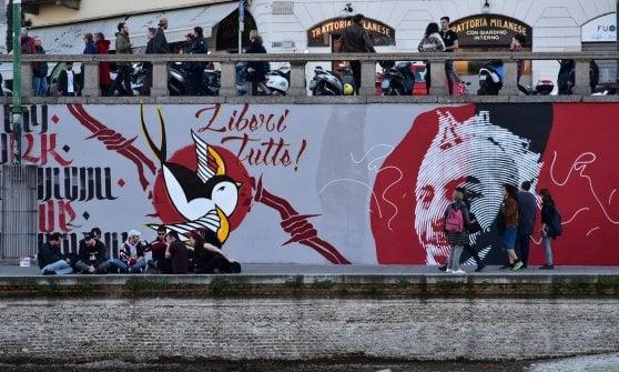 Dax 16 anni dopo: nuovo murale in Darsena e corteo per ricordare il militante antifascista