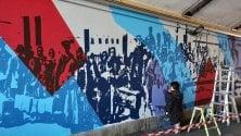 All'Ortica un murale sull'immigrazione