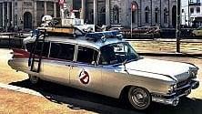 L'auto dei Ghostbuster sfreccia per Milano Cattelan svela il mistero