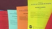 Omaggio alle vittime  di mafia sui fogli colorati esposti al Pirellone