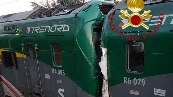 Scontro tra due treni Trenord in provincia di Como: sette feriti e una cinquantina di contusi