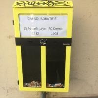 A Crema i cestini-sondaggio per i mozziconi di sigarette: