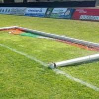 Castellanza, vandali in azione allo stadio: