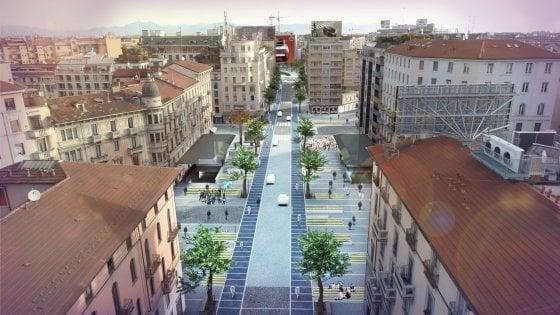 A Milano visioni dal futuro: in bici tra gli alberi su corso Buenos Aires