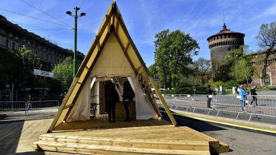 Fuorisalone, un campeggio di lusso davanti al Castello: è il glamping tecnologico