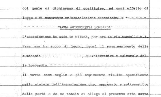 La Lega Lombarda compie 35 anni: da un notaio di Varese iniziò l'avventura di Umberto Bossi