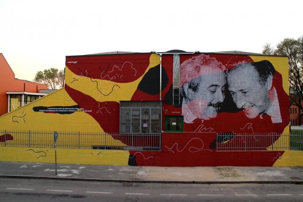 Falcone e Borsellino, il murale antimafia a Settimo Milanese