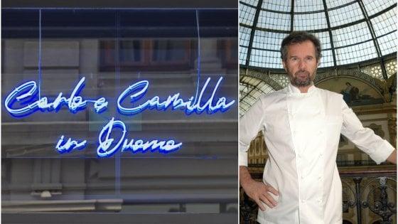 """Carlo Cracco torna alle origini: riapre il ristorante in via Hugo. """"Menù ironici, dall'Imbruttito al Biodiverso"""""""