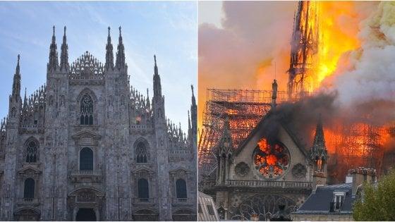 """Incendio Notre-Dame, il protocollo per il Duomo di Milano: """"Qui tanto marmo, ma attenzione all'Organo in legno"""""""