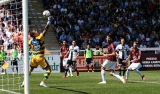 Parma-Milan 1-1, Bruno Alves risponde a Castillejo