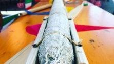 Salame dei record per Pasquetta: da Bergamo a Brescia su un rimorchio di 28 metri