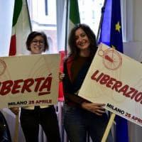 25 Aprile a Milano, in corteo Sala, Zingaretti e Buffagni. Il Pd dedica