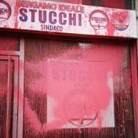 """Bergamo: vandalizzata la sede del candidato sindaco leghista. Salvini: """"Più"""