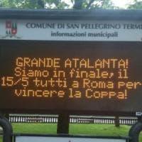 Atalanta in finale di Coppa Italia, i comuni bergamaschi festeggiano con