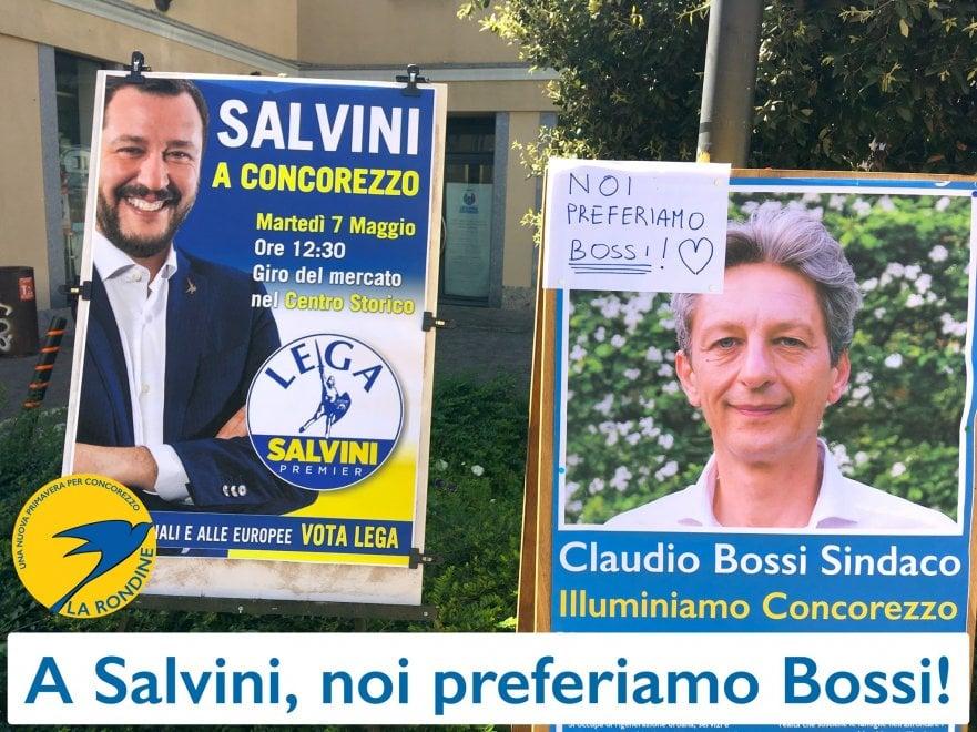"""""""A Salvini noi preferiamo Bossi"""": l'ironia elettorale del centrosinistra a Concorezzo"""