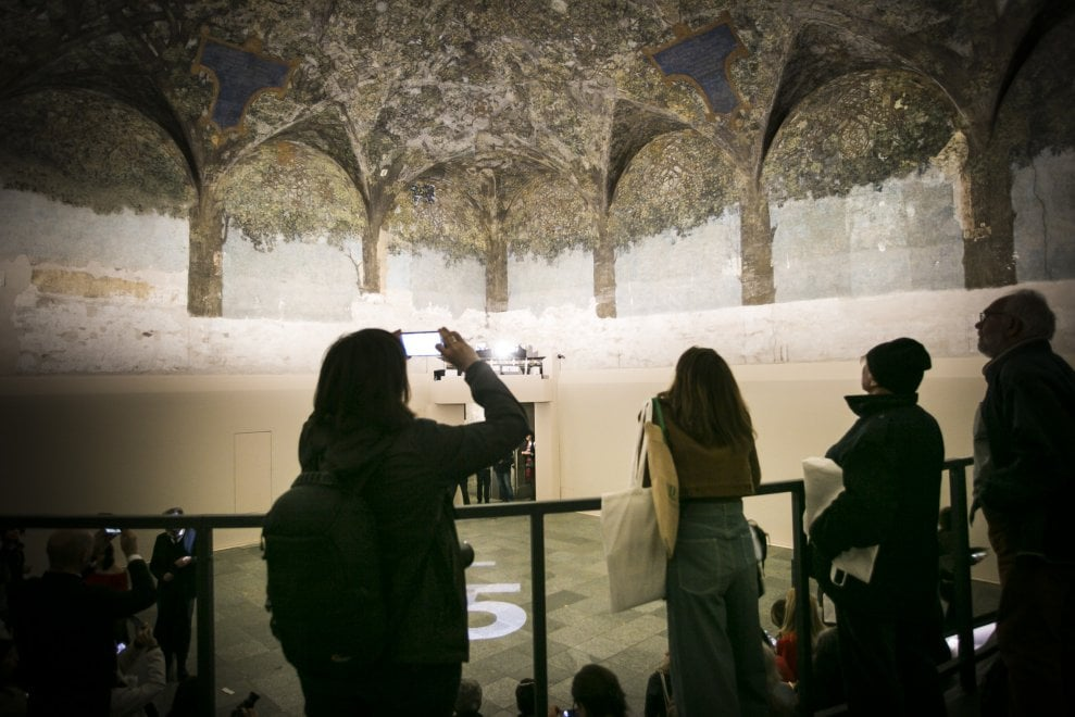Milano, svelata la sala delle Asse al Castello dopo 6 anni di restauro
