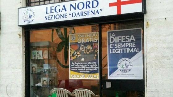 Milano, danneggiata sede della Lega in zona Darsena: indagini della Digos in corso