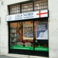Milano, danneggiata sede della Lega in zona Darsena: indagini della Digos