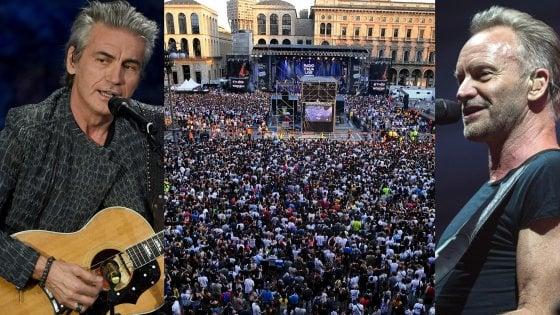 Milano, arriva il concertone di Radio Italia in piazza Duomo: Sting e Ligabue ospiti d'onore
