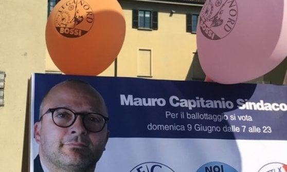 Amministrative, a Concorezzo i palloncini della Lega con il nome di Bossi: ma è il candidato del centrosinistra
