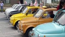 500 che passione: a CityLife il raduno delle auto d'epoca della Fiat
