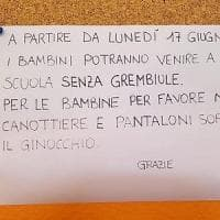 In un asilo del Varesotto il cartello con il dress code per le bambine: