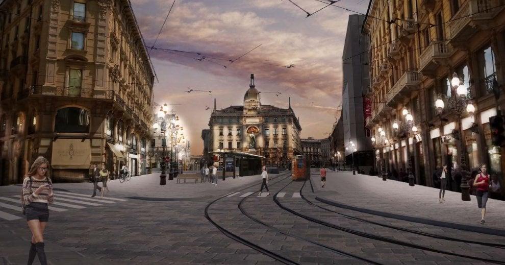Piazza Cordusio com'era, com'è e come (forse) sarà: il progetto del Comune di Milano
