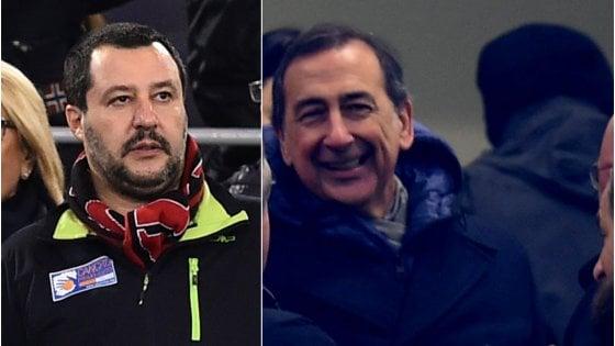 """Festa per la curva dell'Inter ai giardini Montanelli, Sala a Salvini: """"Ok se il ministero garantisce la gestione"""""""