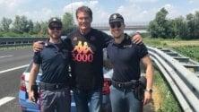 'Supercar' Hasselhoff fermato dalla stradale a Cremona: gli agenti gli chiedono una foto