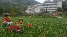 Varese, i personaggi Lego invadono il roseto  di FRANCESCA ROBERTIELLO