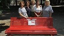 La panchina rossa contro la violenza sulle donne    ai Giardini della Guastalla