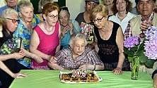 La nonna record del Giambellino festeggia  i suoi primi 105 anni