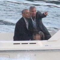 Como, gita in motoscafo per Obama e Clooney. Così si chiude il week end super scortato