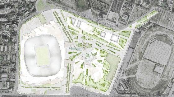 Ecco il progetto del nuovo stadio di San Siro: 60mila posti e un distretto di sport e shopping