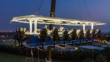 A cena sospesi sui vigneti: il tavolo è a 50 metri d'altezza