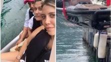 Wanda Nara finisce nel lago di Como con la moto d'acqua: il video del recupero su Instagram
