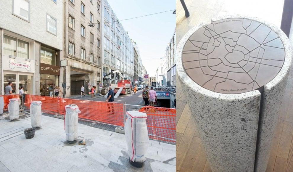 A Milano i primi 'milomat': sostituiscono le barriere jersey anti-terrorismo