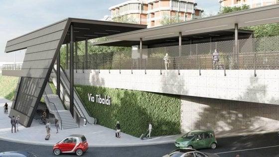 Milano, la futura fermata Tibaldi-Bocconi dei treni suburbani: barriere antirumore e tecnologia green