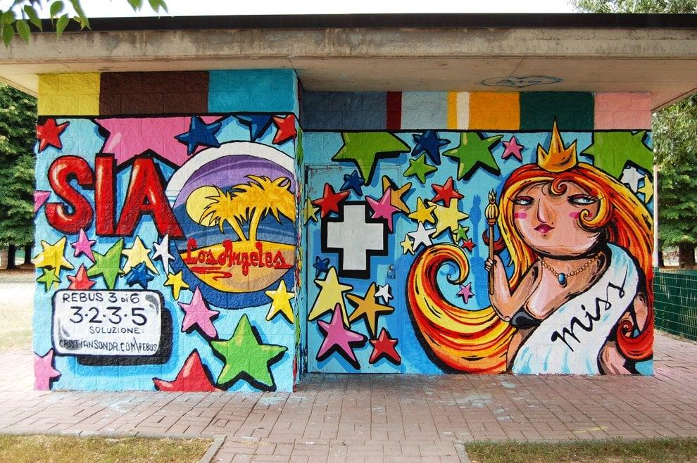 Murales con rebus da sciogliere, l'idea dell'artista che coinvolge gli studenti