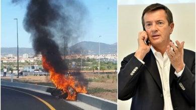 In fiamme a Porto Rotondo la moto di Giorgio Gori: il sindaco illeso