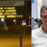 """Felice Gimondi, sui cartelli stradali della Bergamasca l'omaggio """"all'eroe del pedale"""""""
