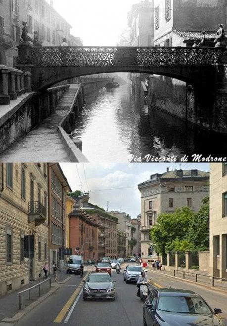 Milano com'era, Milano com'è: via Visconti di Modrone
