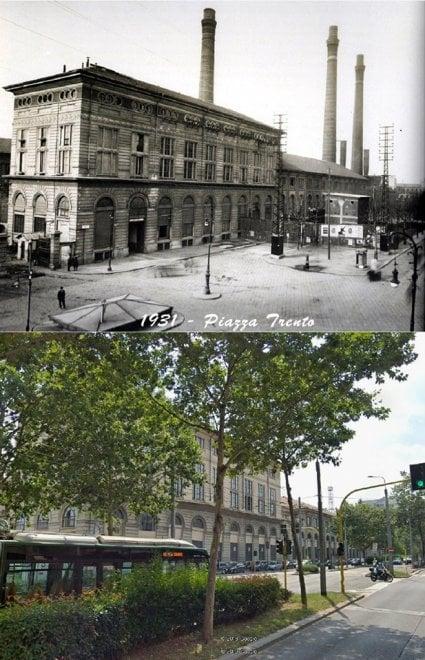 Milano com'era, Milano comè: piazza Trento