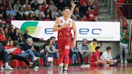 """Basket, Nedovic operato al menisco. L'Olimpia: """"Settimane per la riabilitazione"""""""