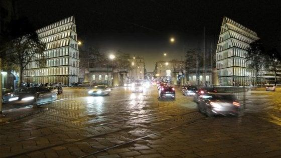 Milano, si sblocca il cantiere per l'altra piramide, ma i residenti protestano