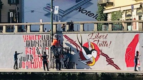 """Milano, cancellato di nuovo il murale per Dax in Darsena. Il sindaco: """"Gli troveremo uno spazio definitivo"""""""