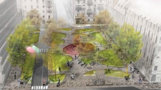Milano, parte il restyling di piazzale Archinto: verde, pavimenti in pietra e una nuova area giochi
