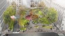 Parte il restyling di piazzale Archinto: verde, pavimenti in pietra e una nuova area giochi
