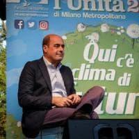 """Zingaretti alla Festa dell'Unità di Milano: """"Basta spocchia verso M5S. Scissioni nel Pd?..."""