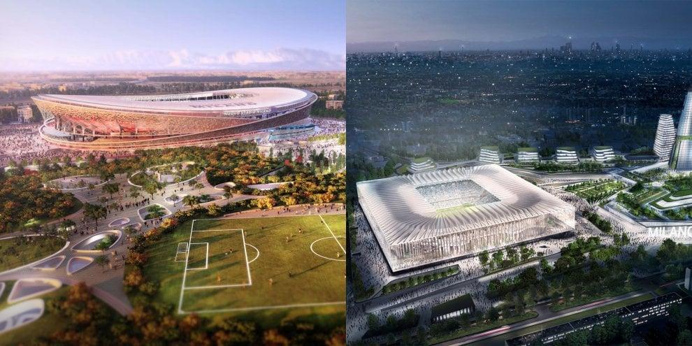 L'omaggio al Duomo e gli anelli incrociati: ecco i progetti per il nuovo stadio di San Siro
